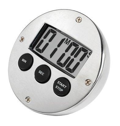 XXLselect Digital Timer Verchromd | 60 Minuten | DeLuxe | ø80mm