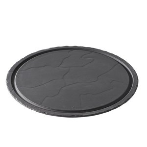 XXLselect Steak Plate Basalt Porcelain | Look slate | Ø300x (H) 10mm