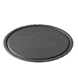 XXLselect Steak-Platte Basalt Porzellan | Schauen Schiefer | Ø300x (H) 10 mm