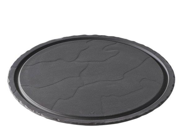 XXLselect Steak Plate Basalt Porcelain | Look slate | Ø300x (H) 10mm