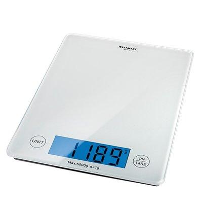XXLselect Elektronische Waage | Kunststoff-Gehäuse | 05kg / 01gr | 230x180x (H) 20 mm