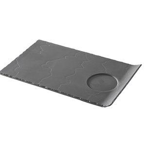XXLselect Partybord Basalt Porselein | Leisteen Look | 330x200x(H)20mm