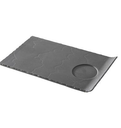 XXLselect Party Plate Basalt Porcelain | Look slate | 330x200x (H) 20mm