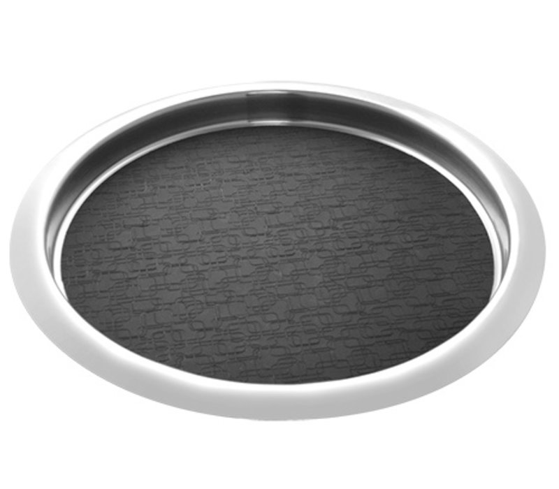 XXLselect Dienblad RVS Rond | Anti-Slip Mat | Ø360mm