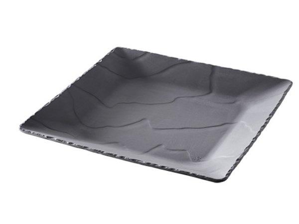 XXLselect Brett Basalt schwarz Porzellan | Schauen Schiefer | 280x280x (H) 330mm