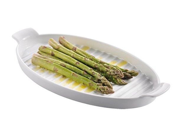 XXLselect Asparagus Bowl Porcelain | 400x200x (H) 40mm