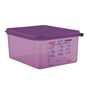 XXLselect Food Box Purple 1/2 GN | Anti-allergenic | Dishwasher safe | 10 liter