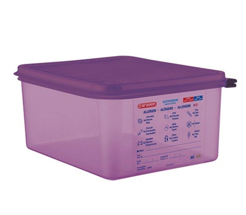 XXLselect Food Box Purple 1/2 GN | Anti-allergenic | Dishwasher safe | 10 liter