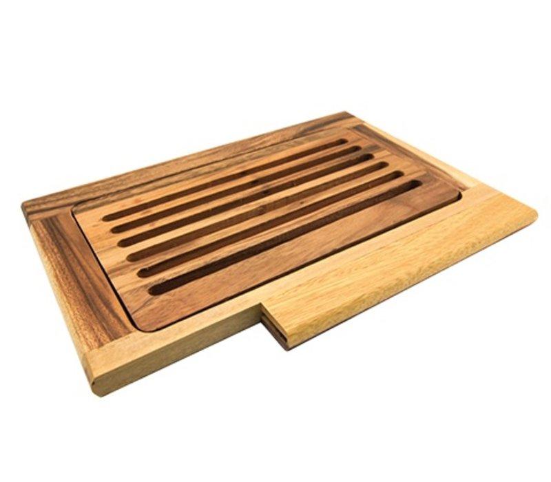 XXLselect Bread Cutting Board with Crumb Catcher   380x260x (H) 20mm