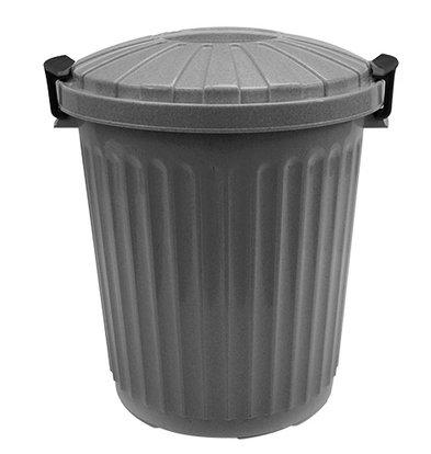 XXLselect Afvalvat met Deksel Grijs | Ø420x(H)480mm | 43 Liter