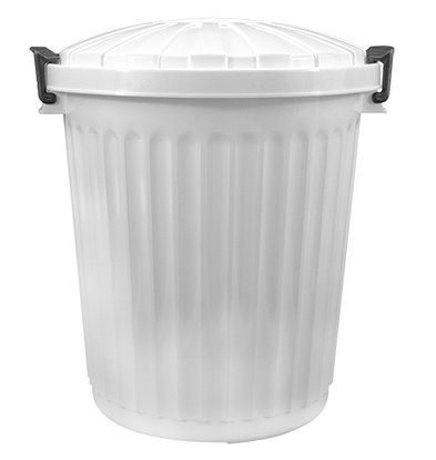 XXLselect Abfallbehälter Deckel weiß | Ø420x (H) 480mm | 43 Liter