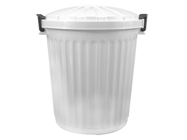 XXLselect Waste container Lid White | Ø420x (H) 480mm | 43 liter