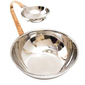 XXLselect Servierschale Edelstahl mit Sauce Bowl | Ø170x (H) 150mm