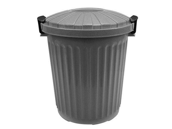 XXLselect Afvalvat met Deksel Grijs | Ø35x(H)41mm | 23 Liter