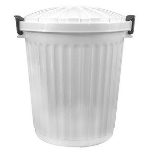 XXLselect Afvalvat met Deksel Wit | Ø35x(H)41mm | 23 Liter