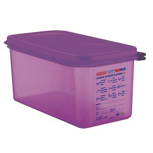 XXLselect Food Box Purple 1/3 GN | Anti-allergenic | Dishwasher safe | 6 liter
