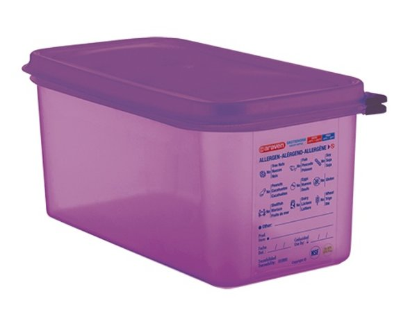 XXLselect Nahrungsmittelkasten Lila 1/3 GN | Anti-allergene | Spülmaschinenfest | 6 Liter