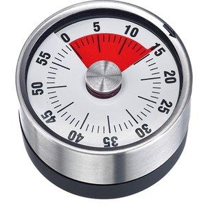 XXLselect Edelstahl-Küche-Timer | Magnet mit 60 Minuten | Ø62mmx (H) 36 mm