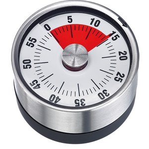 XXLselect Stainless steel kitchen timer | Magnet with 60 Minutes | Ø62mmx (H) 36mm