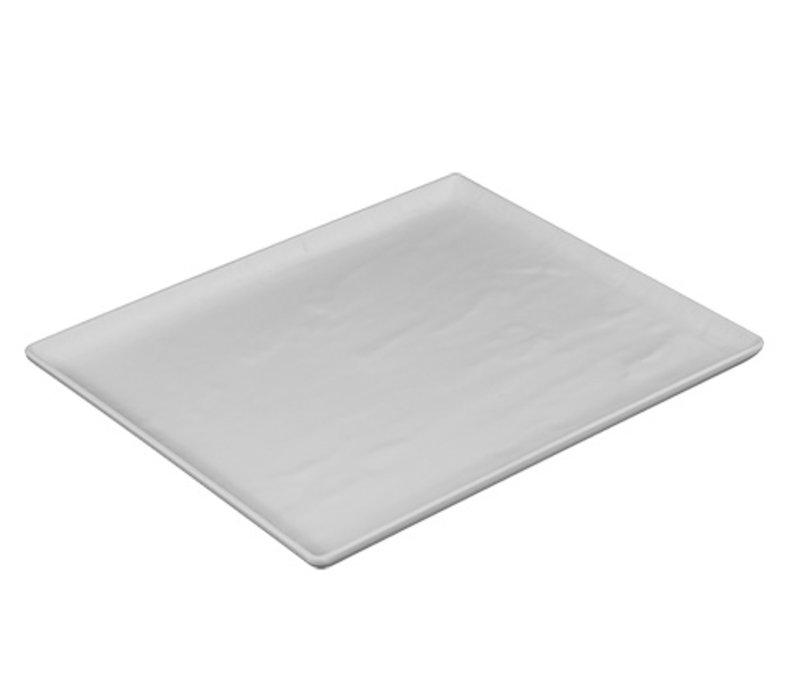 XXLselect Schotel Leisteen Look Wit | Hoge Breukbestendigheid | 320x260x(H)20mm