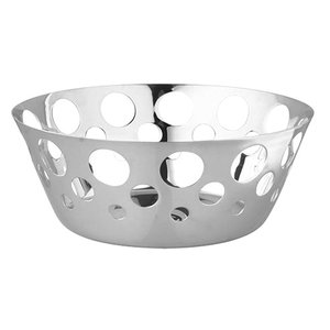 XXLselect Bread Basket Round SS 18/10 | Ø200x (H) 80mm