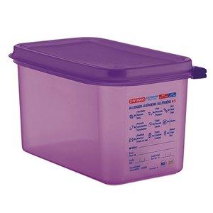 XXLselect Food Box Purple 1/4 GN | Anti-allergenic | Dishwasher safe | 4.3 liter