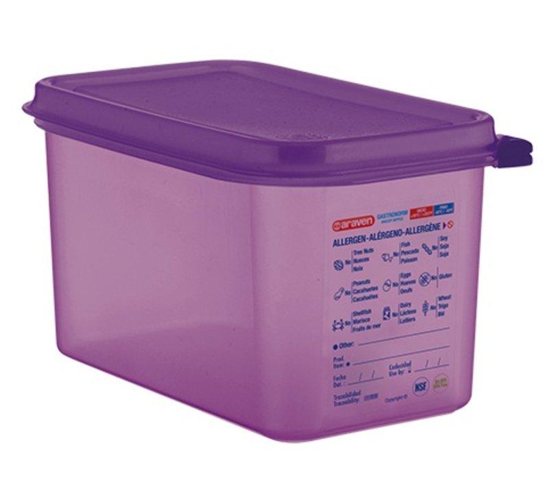 XXLselect Nahrungsmittelkasten Lila 1/4 GN   Anti-allergene   Spülmaschinenfest   4,3 Liter