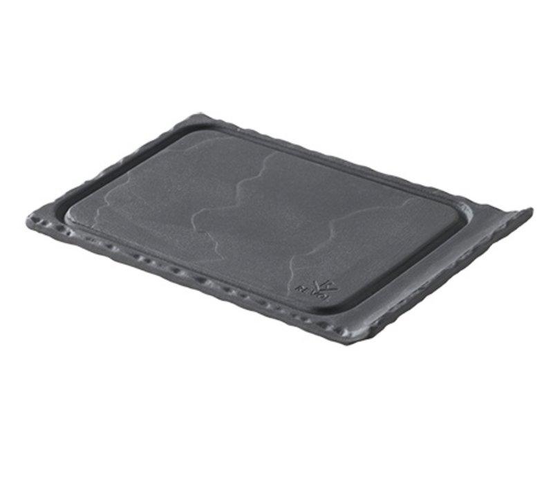 XXLselect Plateautje Basalt Porselein | Leisteen Look | 120x80x(H)10mm