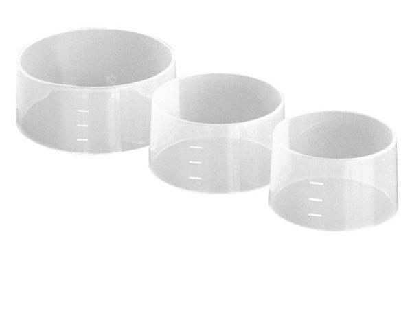 XXLselect Rice Rand / Form | Set of 4 | Ø70x (H) 45mm