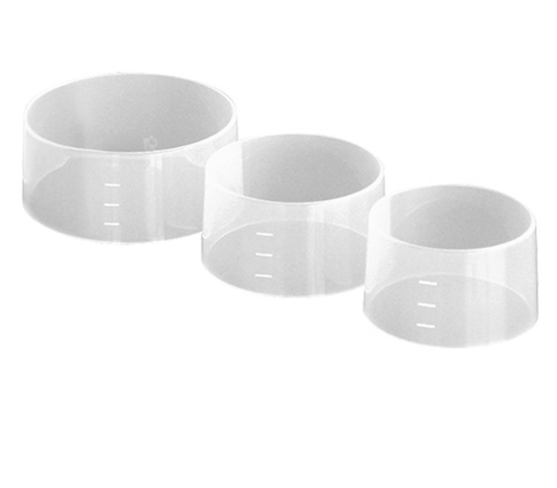 XXLselect Rijstrand/Vorm | Set van 4 | Ø70x(H)45mm