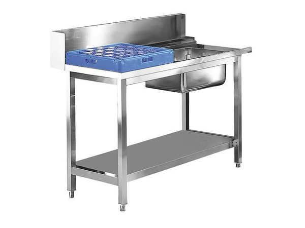 XXLselect Prepurge Table Stainless Right | 1200mm