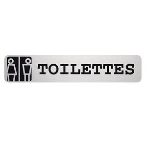 XXLselect Tekstplaatje Toilettes Rechthoekig | Zelfklevend Aluminium | 85x160mm