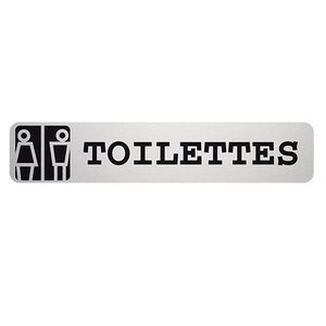 XXLselect Text Picture Toilets Rectangle | Adhesive Aluminium | 85x160mm