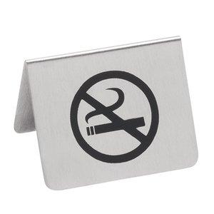 XXLselect Bordje No Smoking RVS | 2 Zijdig Bedrukt | 55x(H)45mm