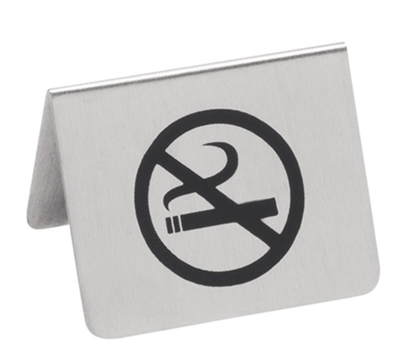 XXLselect No Smoking sign SS | 2 Sided Printed | 55x (H) 45mm