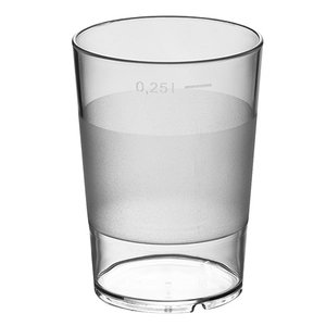 XXLselect Water Glas Stapelbaar Universeel | 28 CL | Ø72x(H)100mm