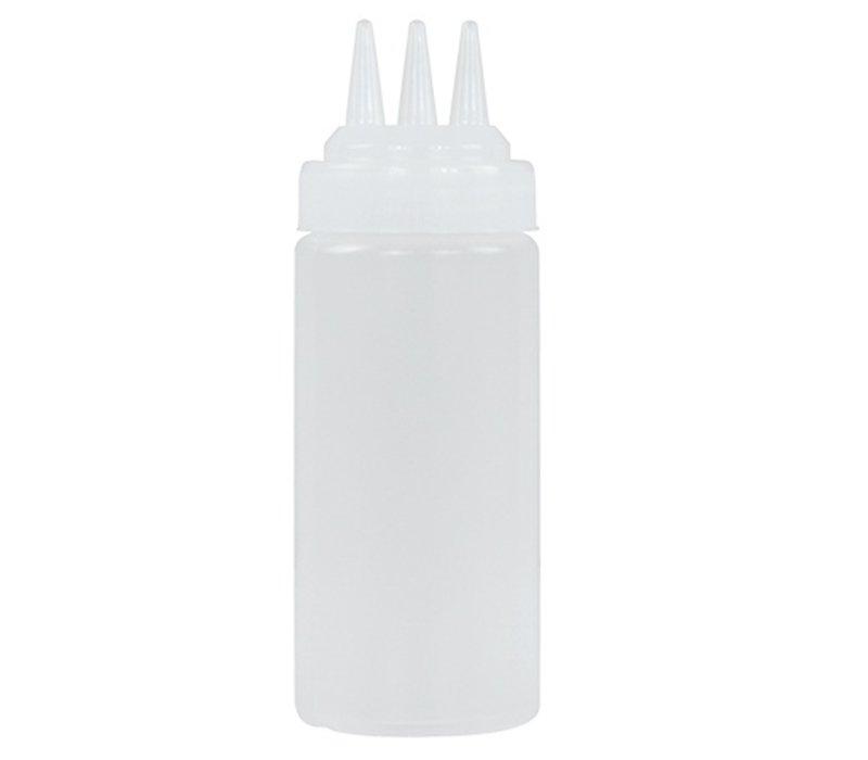 XXLselect Decoratie/Doseerfles Transparant | 3 Uitlopen | 36cl | Ø55x(H)200mm