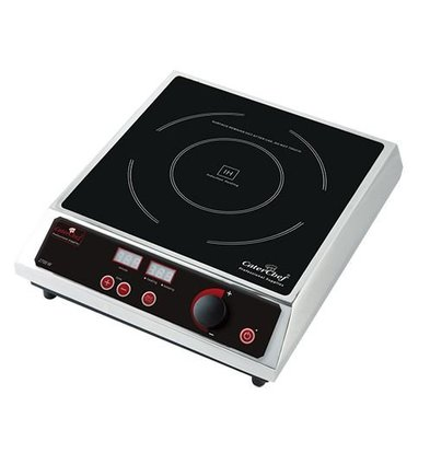 Caterchef Inductiekookplaat Tafelmodel RVS | Digitale Timer | 2700W | 310x380x(H)530mm