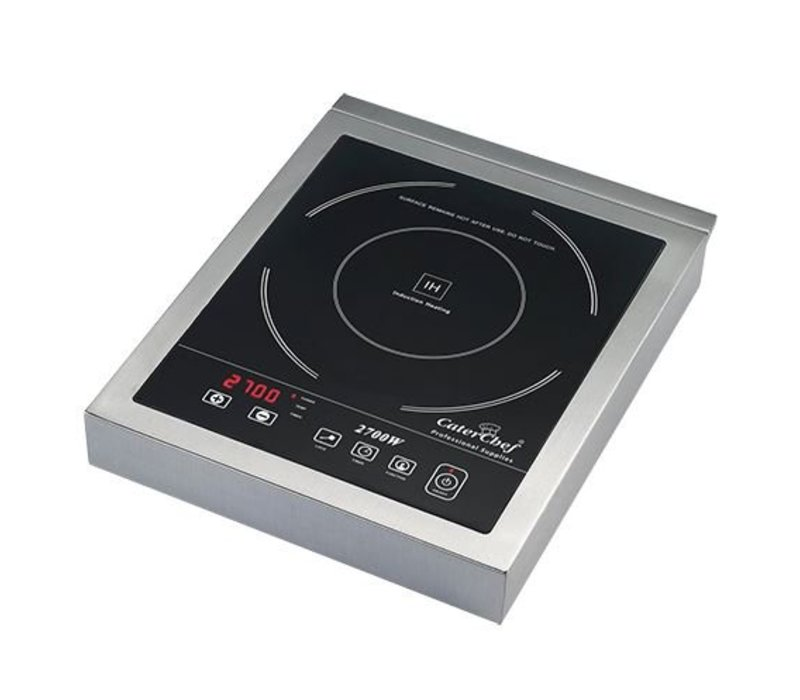 Caterchef Induction Cooker Stainless Steel Tabletop | Digital Timer | 2700W | 290x360x (H) 55mm