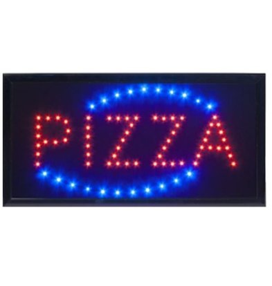 Securit LED Bord 'Pizza' | 48x24x2cm