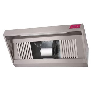 Gastro M Stainless steel hood with motor | 2500x900x540mm | 2500m³ p / h