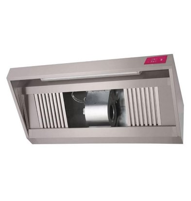Gastro M Stainless steel hood with motor | 1000x900x540mm | 1300m³ p / h