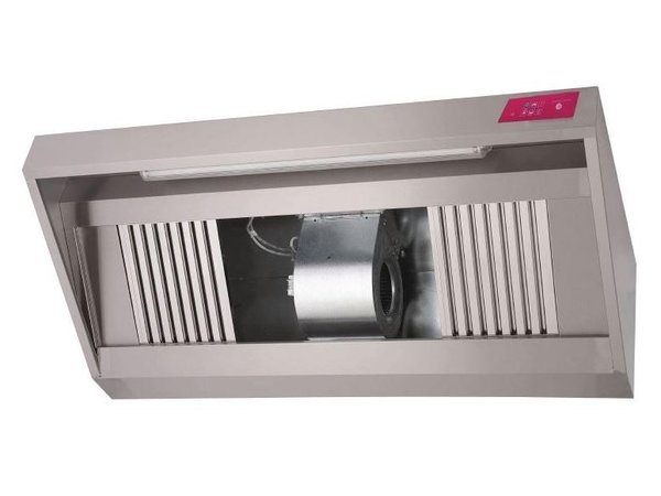 Gastro M Stainless steel hood with motor | 1500x900x540mm | 1300m³ p / h