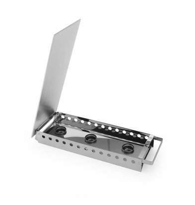 Hendi Rechaud 3 Brenner aus Edelstahl - 450x180x65 mm