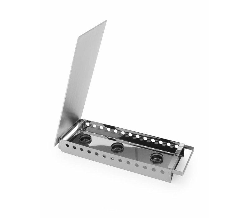 Hendi Dish Warmer 3 burner stainless steel - 450x180x65 mm