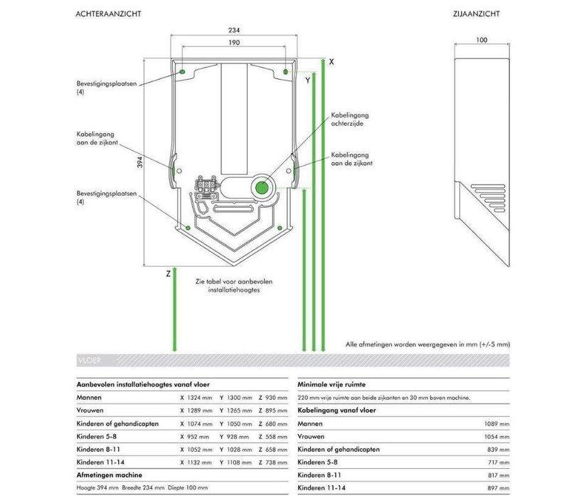 Dyson Dyson Airblade Handdroger V - HU02 Nieuw - 35% Stiller - Grijs/Nikkel