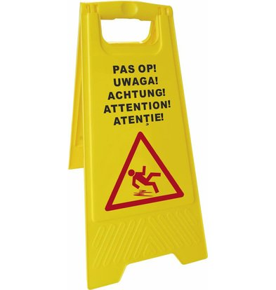 Hendi Warnzeichen Wet floor - PP 5 Sprachen
