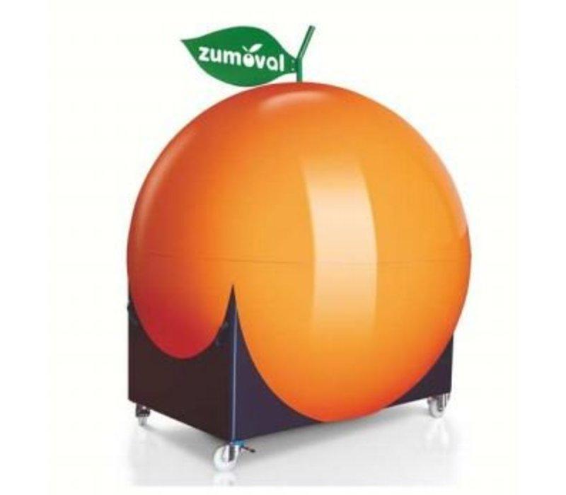 Zumoval Kiosk Zumoval | Incl. Wielen, Wasbak, Watervoorziening | Hoogte Geopend 3.13m