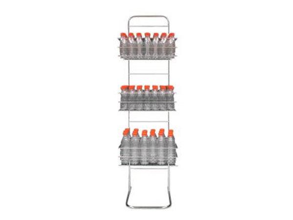 Zumoval Flessenrek RVS | voor Zumoval Flessen | 400x1700(h)mm