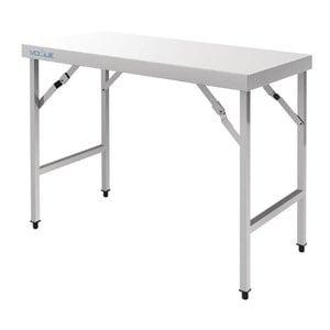 XXLselect Stainless Steel Folding Workbench | 20.4 kg | 1200 (b) x600 (d) X900 (H) mm